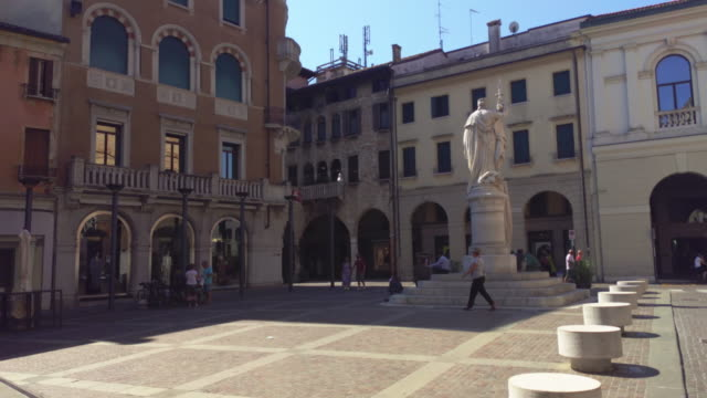 Piazza della Liberta in Treviso 7 TREVISO, ITALY 13 AUGUST 2020: Piazza della liberta or liberty sqaure in english in Treviso in Italy neoclassical architecture stock videos & royalty-free footage