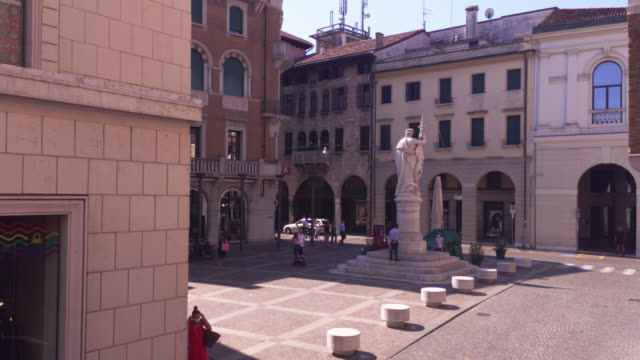 Piazza della Liberta in Treviso TREVISO, ITALY 13 AUGUST 2020: Piazza della liberta or liberty sqaure in english in Treviso in Italy neoclassical architecture stock videos & royalty-free footage