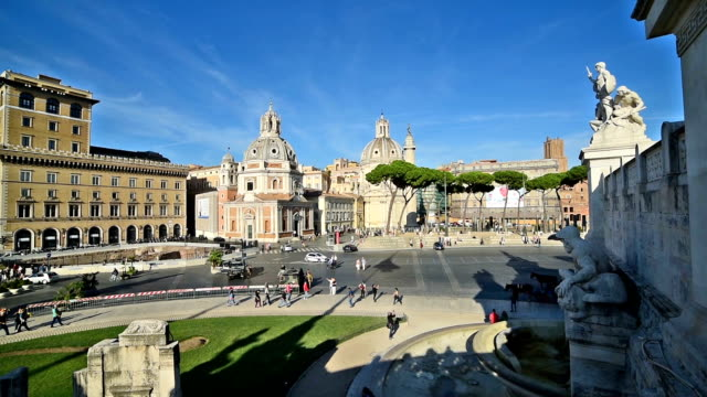 Piazza Venezia seen from Altar of the Fatherland in Rome, Italy Piazza Venezia seen from Altar of the Fatherland in Rome, Italy international match stock videos & royalty-free footage
