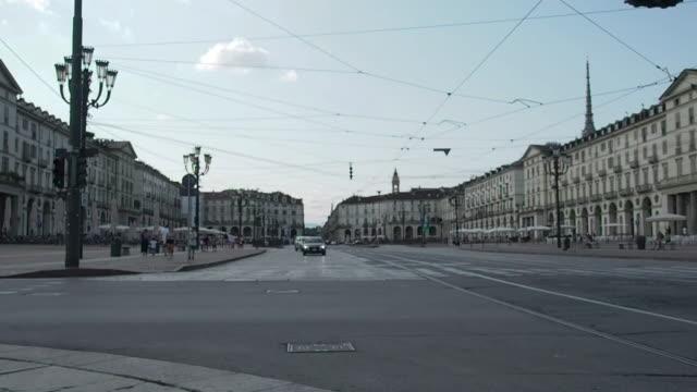 Piazza Vittorio Veneto in Turin in 4k