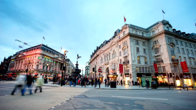 Piccadilly Circus, London, England by time-lapse video