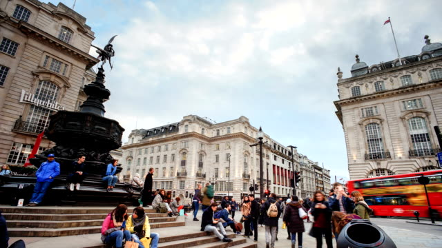 Piccadilly Circus, London, England  time-lapse video
