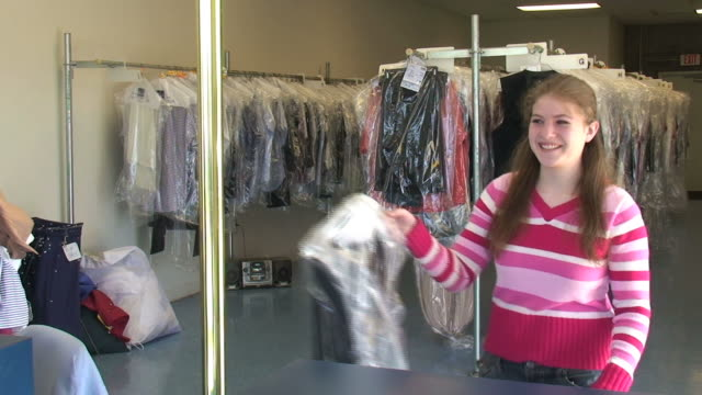 Picking Up Clothes video
