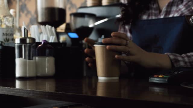 raccogliere il caffè - caffetteria video stock e b–roll