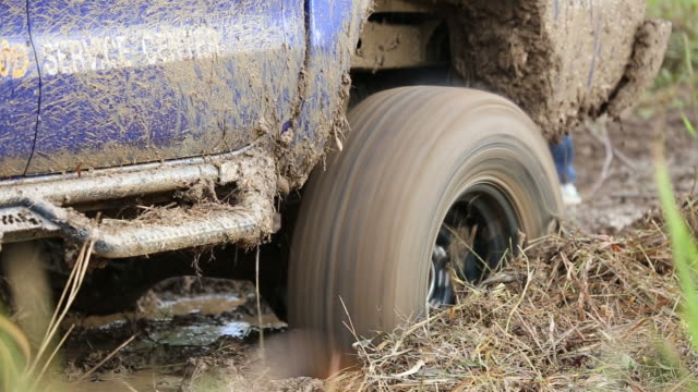 4WD Pickup truck in the mud video