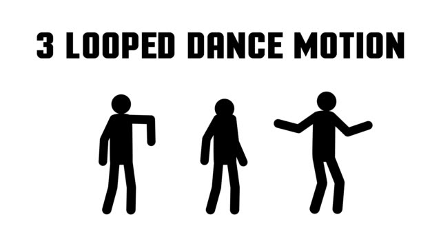 pictogram man dancing video