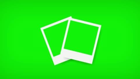 vídeos de stock e filmes b-roll de picture frames with green screen for your photo. 3d rendering - fotografia imagem