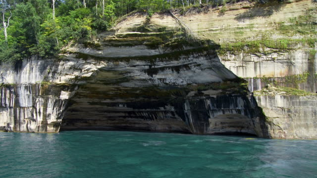 Pictured Rocks 03 rock arch video