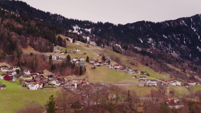 Picturesque Chalets in Liechtenstein - Drone Shot video