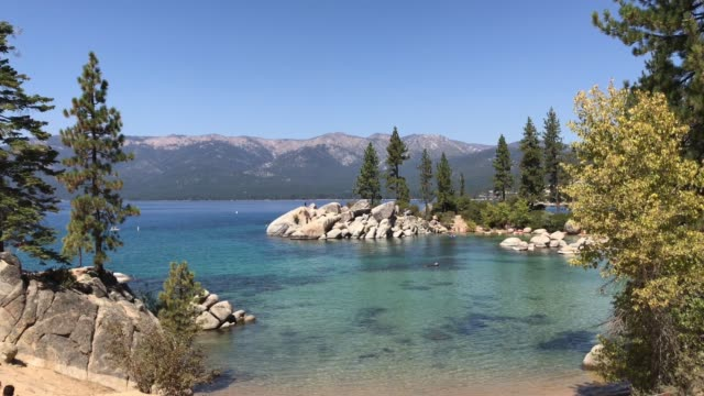 Picturesque Wide Establishing Shot of Lake Tahoe
