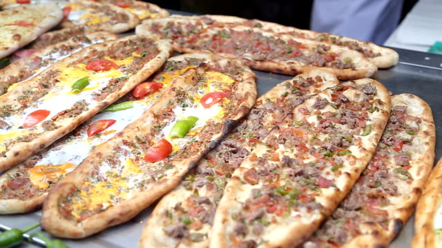 Pide in turkish cafe video