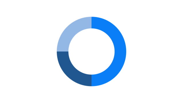 Pie charts animation video