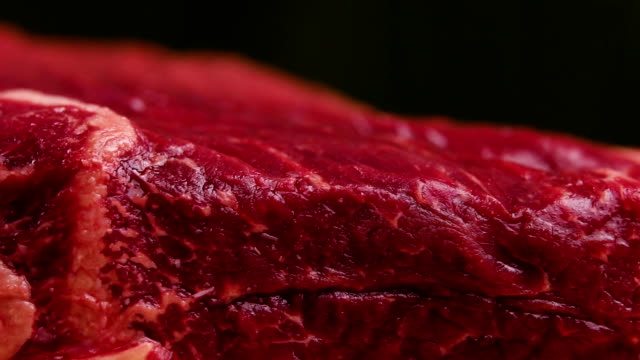 piece of fresh raw beef, closeup - meat stock videos and b-roll footage