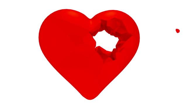 Pierced heart. video