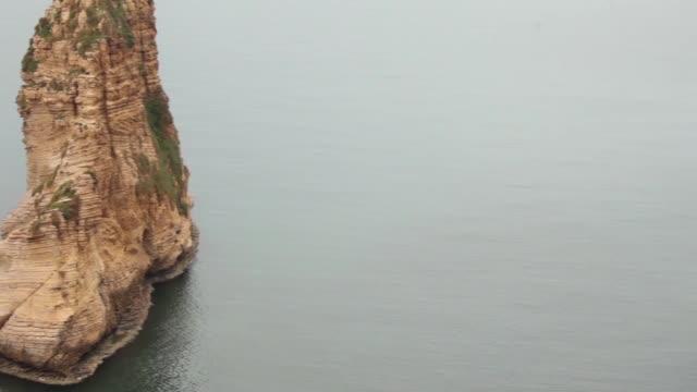 拉烏什的鴿子岩 - lebanon 個影片檔及 b 捲影像