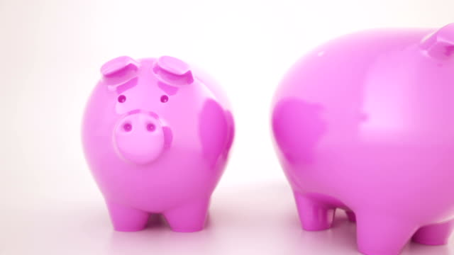 Piggy bank animation video