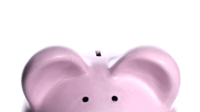 Piggy bank extreme close-up V2 - HD video