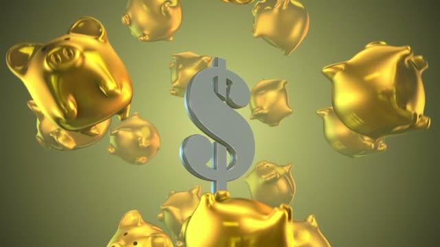 piggy bank finance money business video