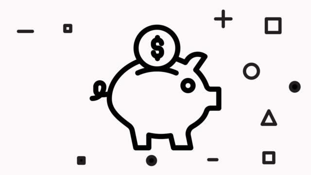 Piggy Bank Icon Animation