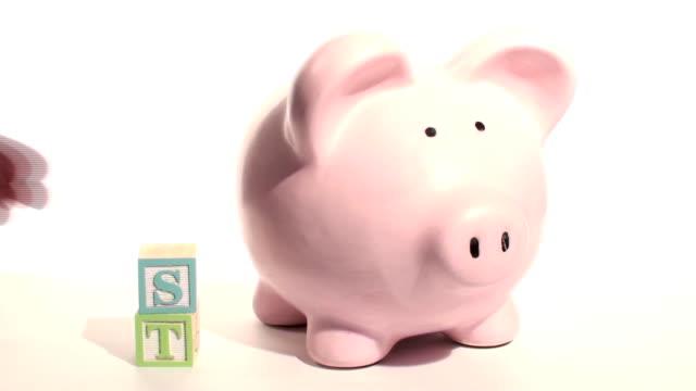 Piggy bank INVEST - HD video