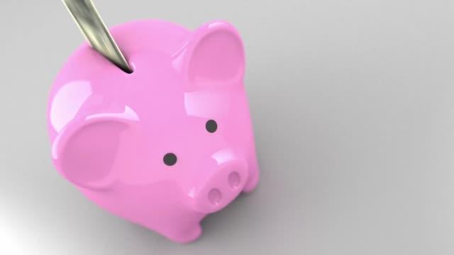 piggy bank money finance business video