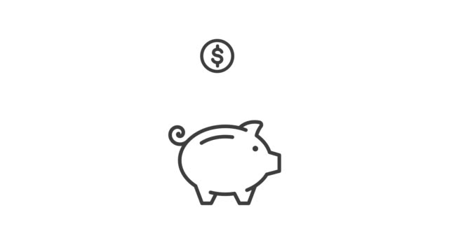 Piggy Bank - Vector Animation Piggy Bank - Vector Animation piggy bank stock videos & royalty-free footage
