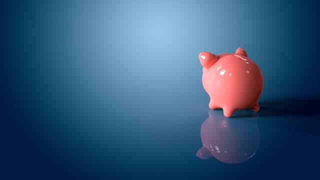 stockvideo's en b-roll-footage met piggy bank - ham