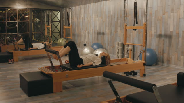 Pilates room in health club video
