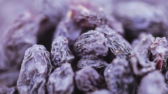 Pile of blue raisins