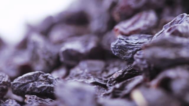 Pile of blue raisins video