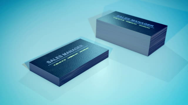 a pile of business cards of the sales manager flies in different directions. - business card stock videos & royalty-free footage