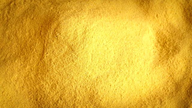 Pile Of Yellow Powder Rotating video