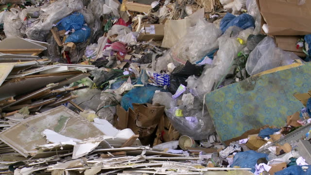 Piles Of Mixed Waste Tilt Up video
