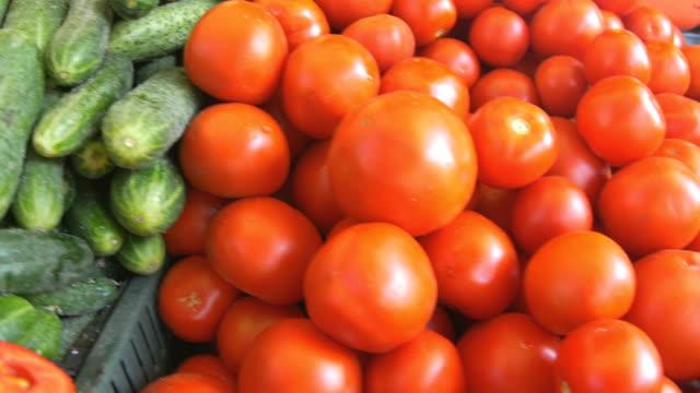 Piles of Organic Vegetables