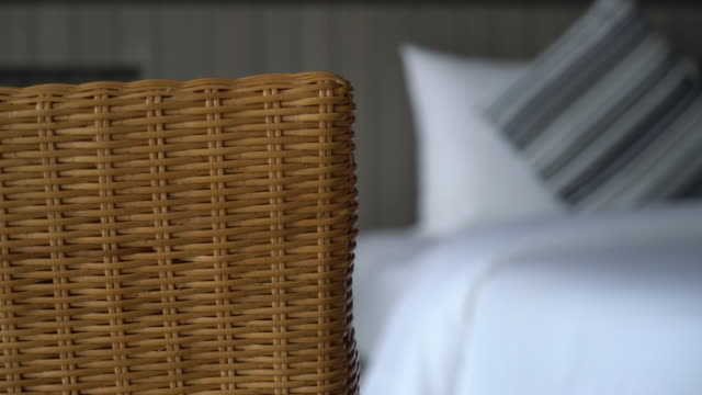 pillow on bed decoration in bedroom interior video
