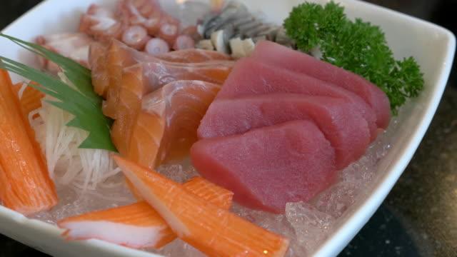 Pinching Tuna Sashimi video