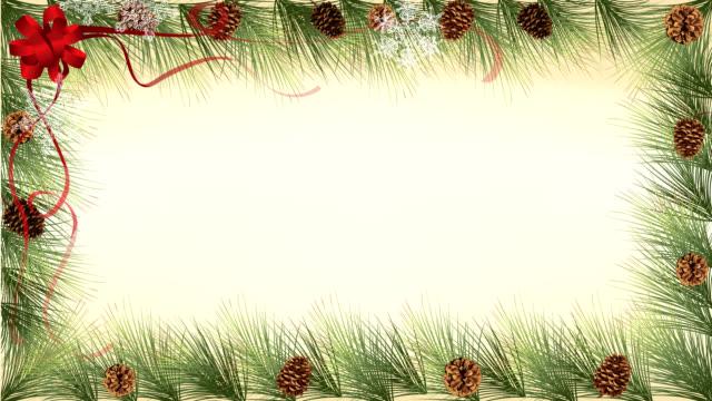 pine cones border - christmas frame bildbanksvideor och videomaterial från bakom kulisserna