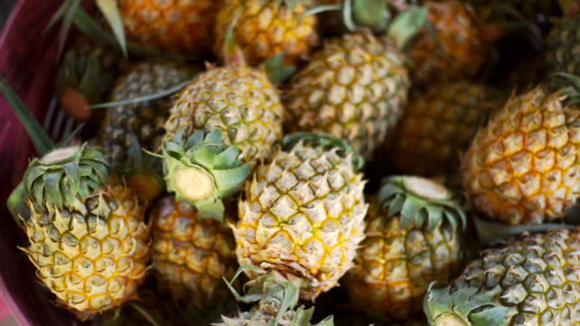 Pineapples in the basket