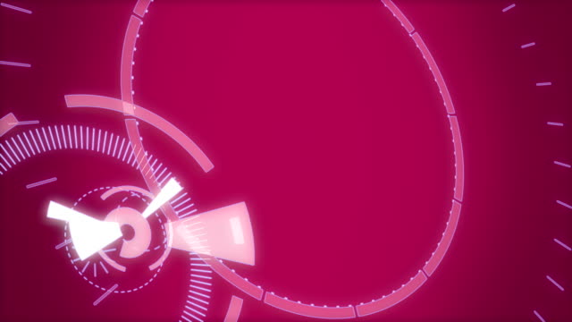 Pink abstract round animation, hi-tech background with circles. Futuristic Sci-Fi HUD effect. video
