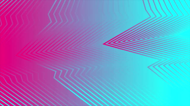 Pink and blue abstract curved refracted lines video animation