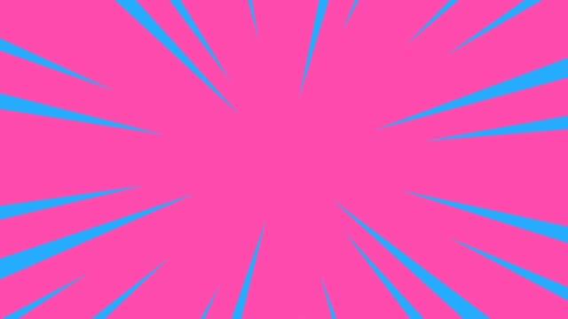 Roze en blauwe radiale anime lijnachtergrond. video
