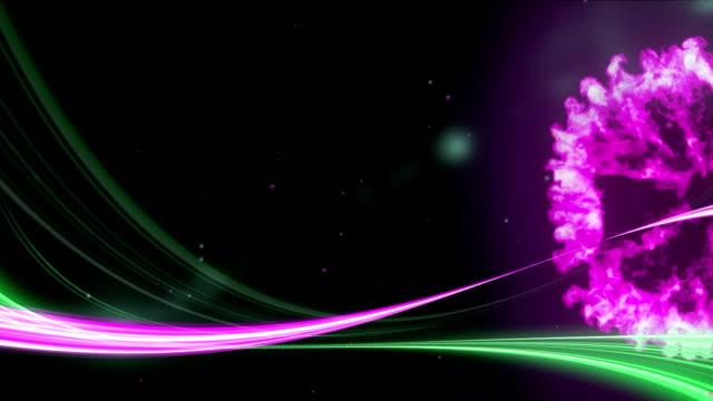 stockvideo's en b-roll-footage met roze en groene paden en roze rook - depth vector