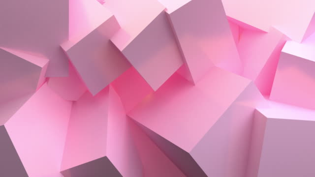 vídeos de stock e filmes b-roll de pink ball abstract 3d rendering of looped animation with geometric shapes. motion design, 4k uhd - modelação low poly
