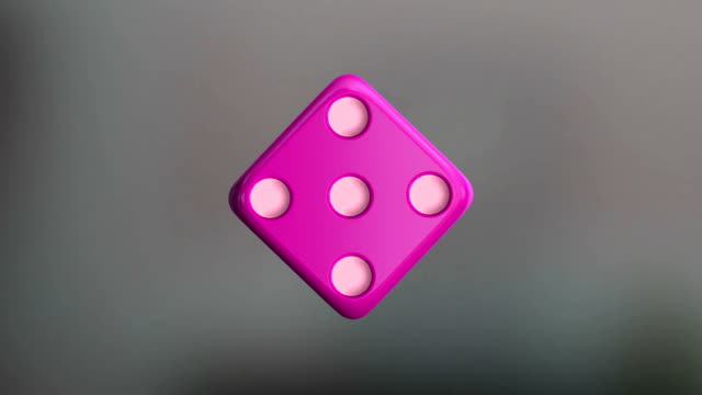 Pink Dice rotation the rotation dice rolling stock videos & royalty-free footage