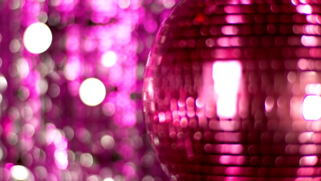 Pink discoball video