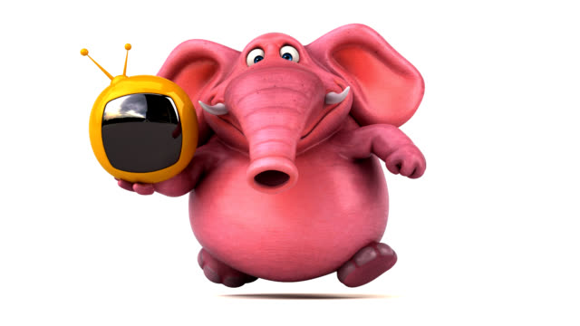 Pink elephant - 3D Animation video