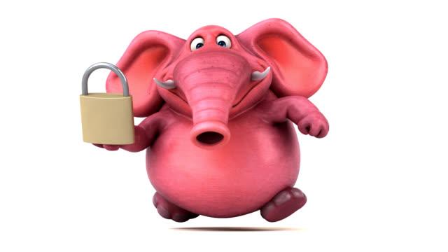 Pink elephant - 3D Animation Pink elephant - 3D Animation antivirus software stock videos & royalty-free footage