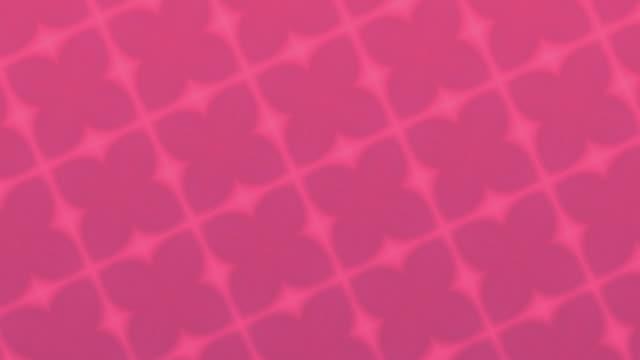 Pink Geometric Shapes Kaleida Background stock video Loopable