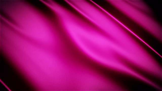 Pink glossy cloth satin realistic seamless loop waving animation video