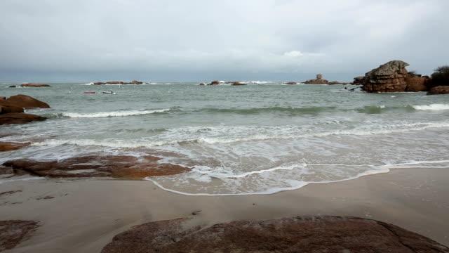 Pink Granite Coast, France. video